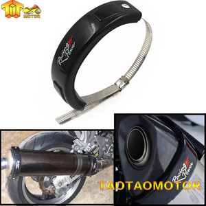 Motorcycle Universal Fit 100MM-140MM Oval Exhaust Protector Can Cover For YAMAH MT-07 MT-09 MT-10 XSR700 XSR900 mt 07 mt 09 r3