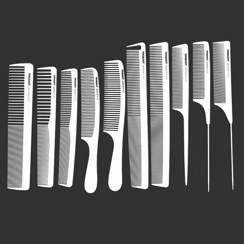 10 Style White Hairdressing Comb Anti-static Hair Cutting Combs Detangle Straight Hair Pro Salon Styling Tool