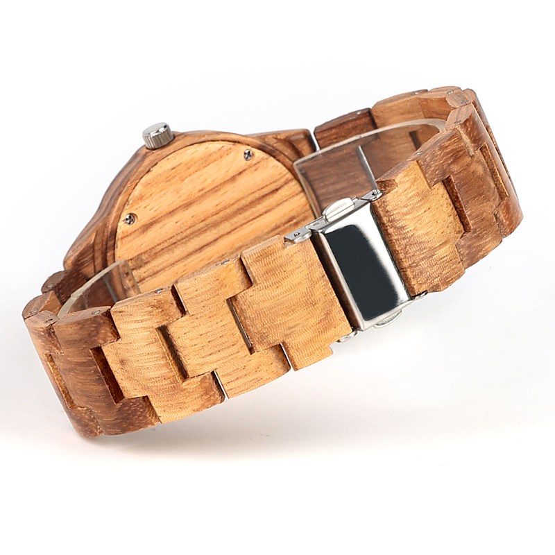 Image 5 - ELMERA wood watch women ladies watches women in Wristwatch Quartz Movement Wood Watch relogio femininoWomens Watches   -