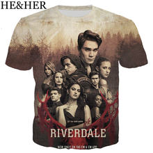 Popular TV series riverdale 3D Printed t shirts men/women Summer tops Fashion New Casual men t shirt Harajuku Funny Streetwear(China)