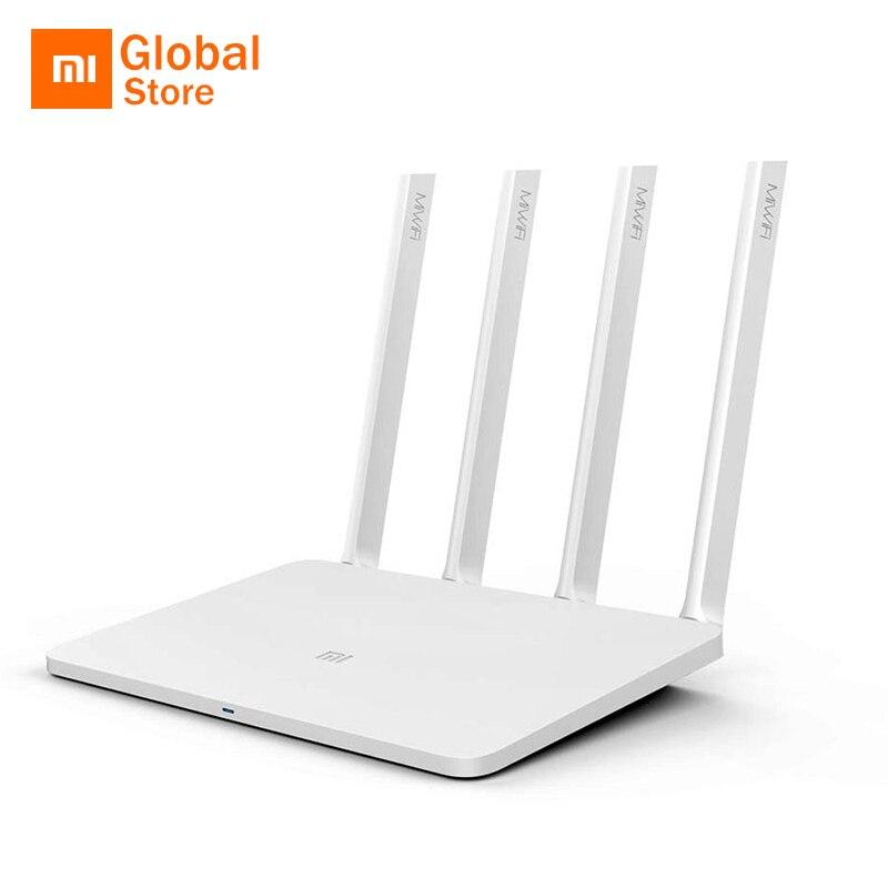 Prix pour D'origine xiaomi mi wifi routeur 3 4 antennes 1167 mbps 802.11ac b/g/n WIFI Dual Band 2.4G 5G APP Contrôle Sans Fil Routeur USB 2.0