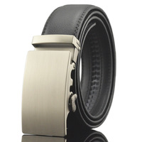 PATEROY Luxury Business Casual Belt Man Black Brown Genuine Leather Belts For Jeans Automatic Buckle Strap