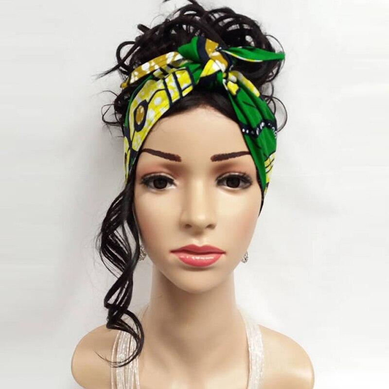 African Headties Sego Gele Head Tie For Women African Cotton Wax Print Ankara Handmade Accessories Versatile Hair Tie WYX04