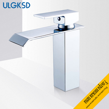 ULGKSD Basin Faucet Chrome/ Nickle Brass Single Handle Ceramic Valve Deck Mount Hot and Cold Water Mixer Tap Para Bathroom