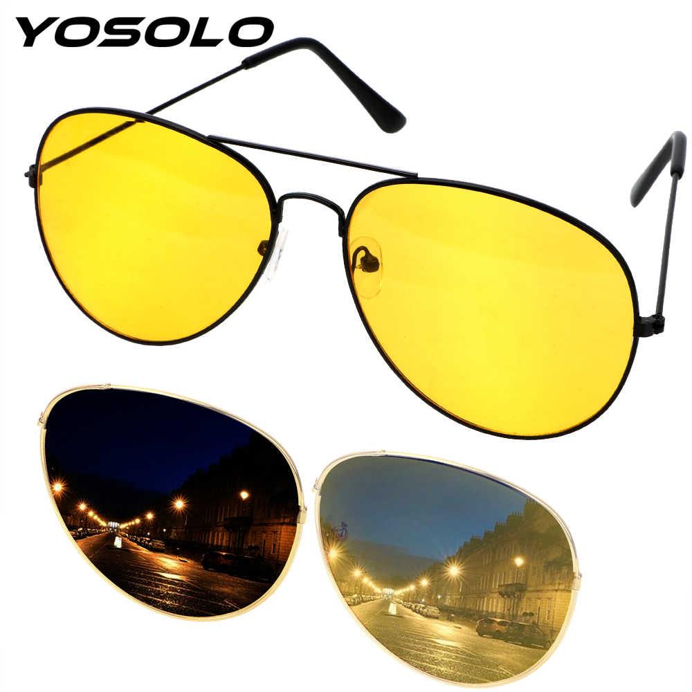d6936627bf9 YOSOLO Car Night Vision Driver Goggles Anti-glare Polarizer Sunglasses  Copper Alloy Polarized Driving Glasses