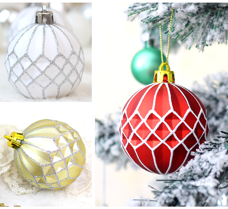 05 inhoo Plastic Christmas Balls For Home Christmas Tree Decorations White Baubles Xmas Ornaments Pendant Balls 2019 New Year Gifts