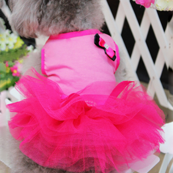 dbc997be8 Ropa para perros perro rosa gato princesa tutú vestido arco burbuja ...
