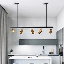 Lámpara de luz colgante de latón y cobre nórdico, LED dorado, lámpara colgante moderna, luz de proyección, para dormitorio, barra de comedor