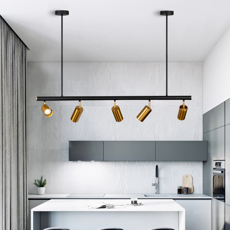 Nordic  Copper Brass Pendant Light Lamp LED Golden Modern Pendant Lamp Projection Light Bedroom Dinning Bar LED Pendant Light