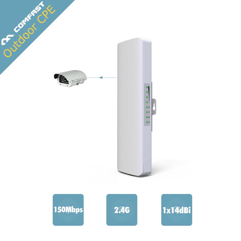 Prix pour Comfast 2.4 GHz extérieure CPE pont 150 Mbps longue portée Du Signal Booster extender 2-3 km Sans Fil AP 14Dbi en plein air wifi répéteur