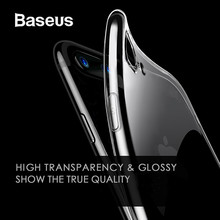 цена на Baseus High Transparent Case for iPhone 7 8 Plus Soft Silicone TPU Case for iPhone 7 7 Plus Ultra Thin Case for iPhone 8 8 Plus