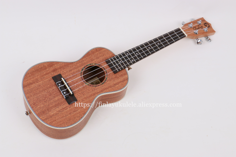 "Finlay 23"" ukulele,Electric ukelele with nylon bag,Full Mahongay top/body hawaii guitars,FU-Q88,Concert ukulele"