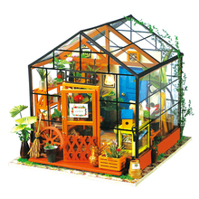 DIY Doll House Miniature Dollhouse With Furnitures Wooden Handmade House Puzzle Toys Gift For Kids Kathy's Flower House DG104 #E