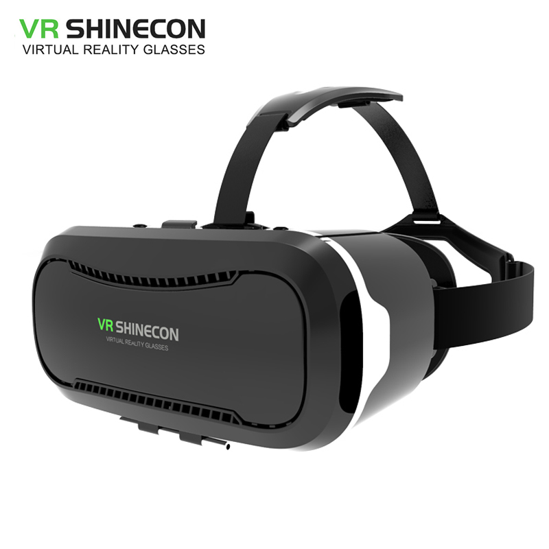 VR Shinecon 2.0 3D Glasses Virtual Reality Smartphone Google Cardboard VR Helmet BOX for ios Android 4.7-6 inch Phone Leather 3d очки oem google 3d vr hd 3d k0038