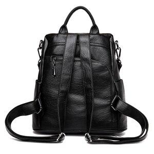 Image 3 - Moda 2018 kadın sırt çantası gençlik deri Vintage gençler için sırt çantaları kızlar kadın okul çantası sırt çantası mochila kese dos