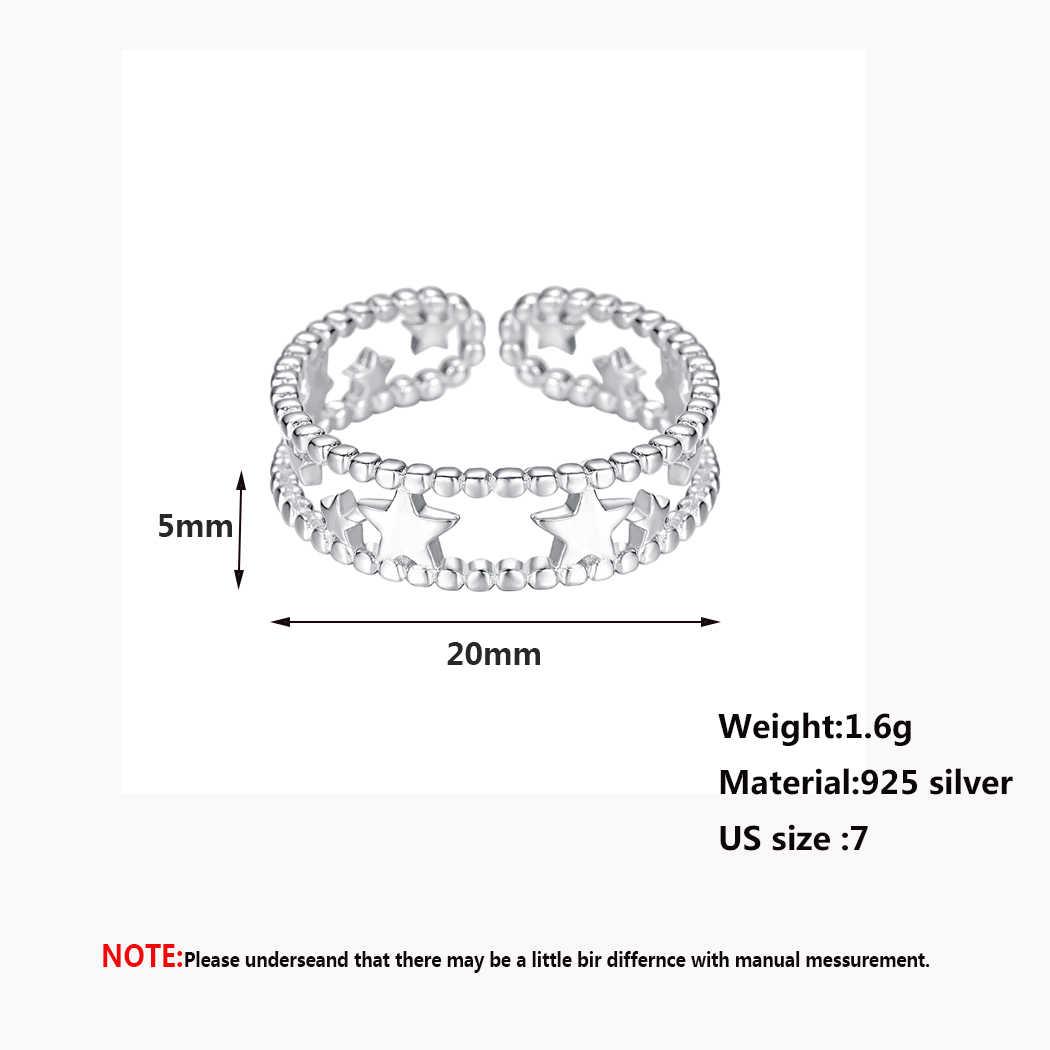 Kinitial Роскошные простой звезда в средней линии кольца для женщин обручение Свадебные кольцо с дизайном «звёзды» Jewelry anillos плата 925 para mujer