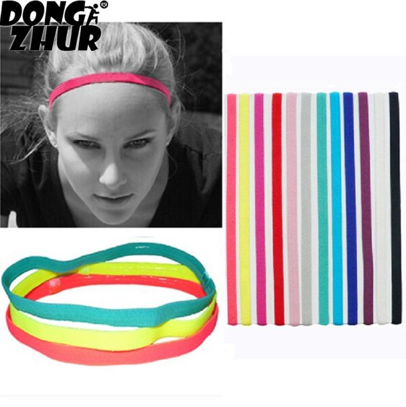 @1  Женщины упругой йоги повязка на голову повязка на голову веревка бег трусцой спорт тренажерный зал а ✔