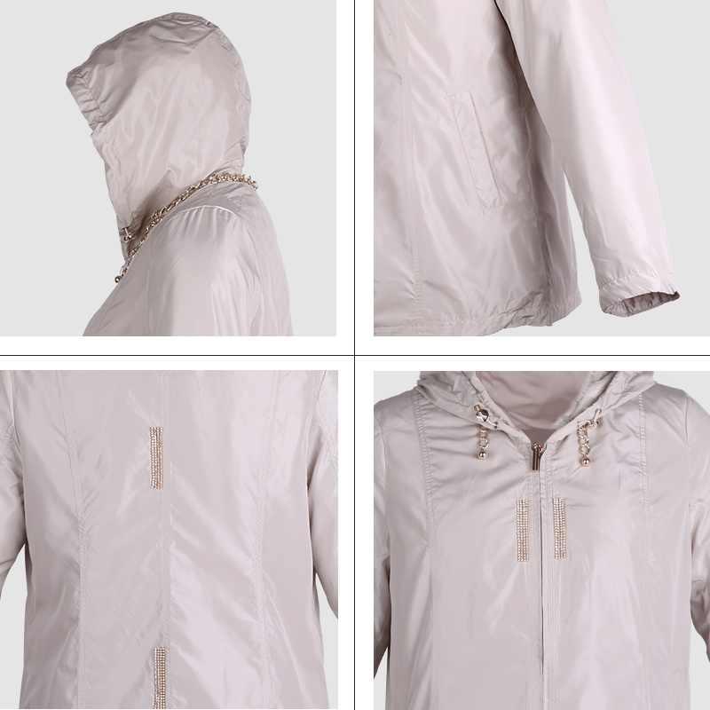 As9022 Große Jacken Jacke Mit Kapuze Heißer Schlank Astrid Mantel Outwear Kurze Frühling Frauen Damen Windjacke Verkauf P0wknO8X