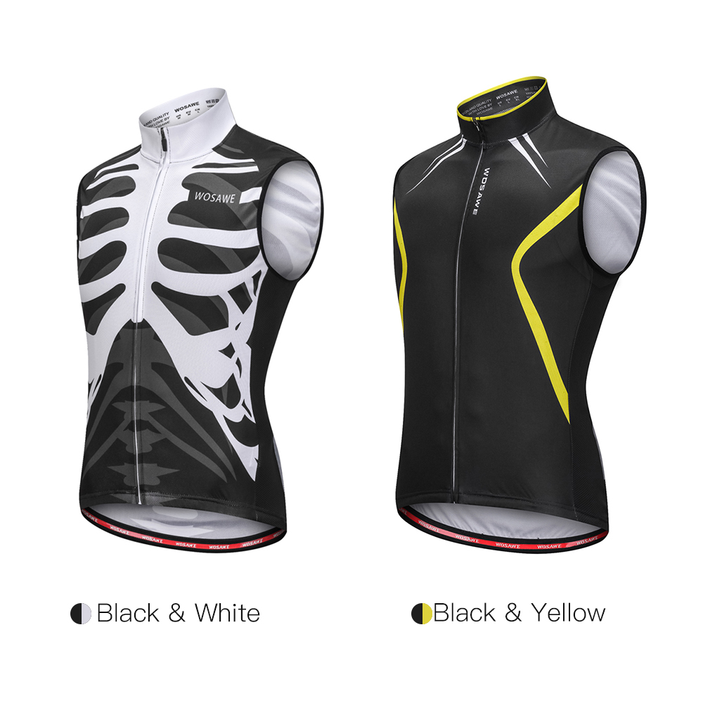 6029ab66410f2 Wosawe Sleeveless Cycling Vest Jersey cycling clothing exercise Breathable  MTB Bike Riding Top Sports Jacket for Men Women