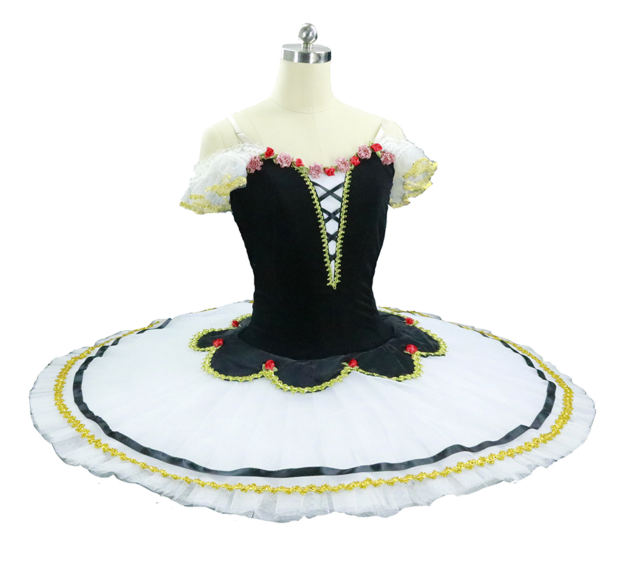 Black white Flames of Paris Adult professional ballet tutu women ballet stage tutu costume performance pancake tutu for girls