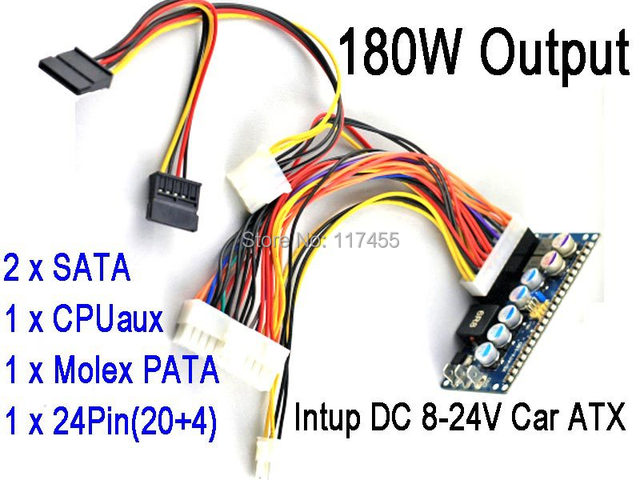 DC 8 24V 24Pin ATX Power Supply PicoPSU Car Auto mini