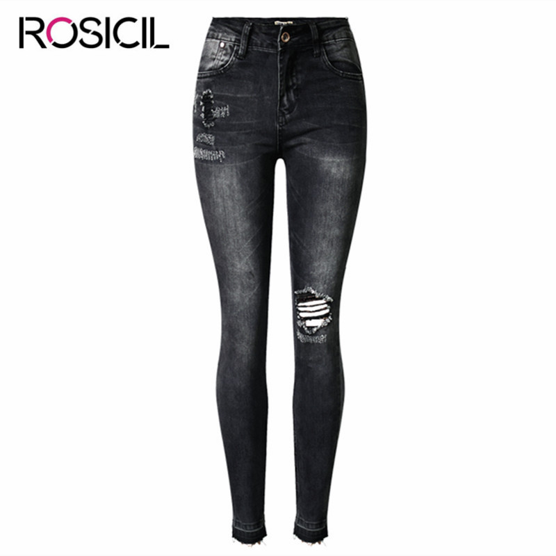 Fashion high waist Hole jeans woman Pencil Pants ripped jeans for women jeans Tassel denim jean pants casual Scratched pantalone fashion high waist jeans ankle length denim pants ripped hole jeans casual summer women jeans denim pants jean new tt1138