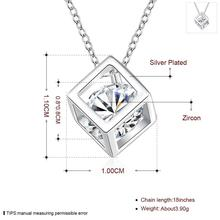 Silver Plated Cute Lady Pendant Necklace Jewelry For Women