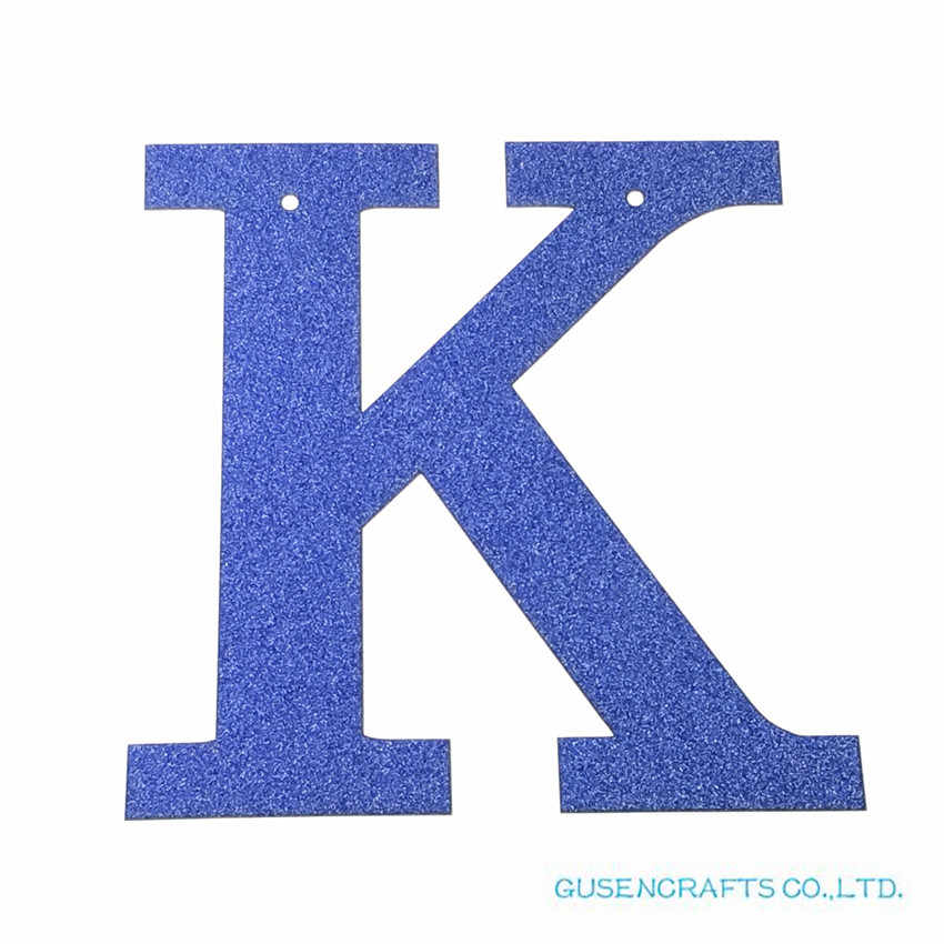1 pcs/lot Personalized 13cm DIY Glitter Paper royal blue Letters Banners/Garlands Hanging Wedding Birthday Party Decorations