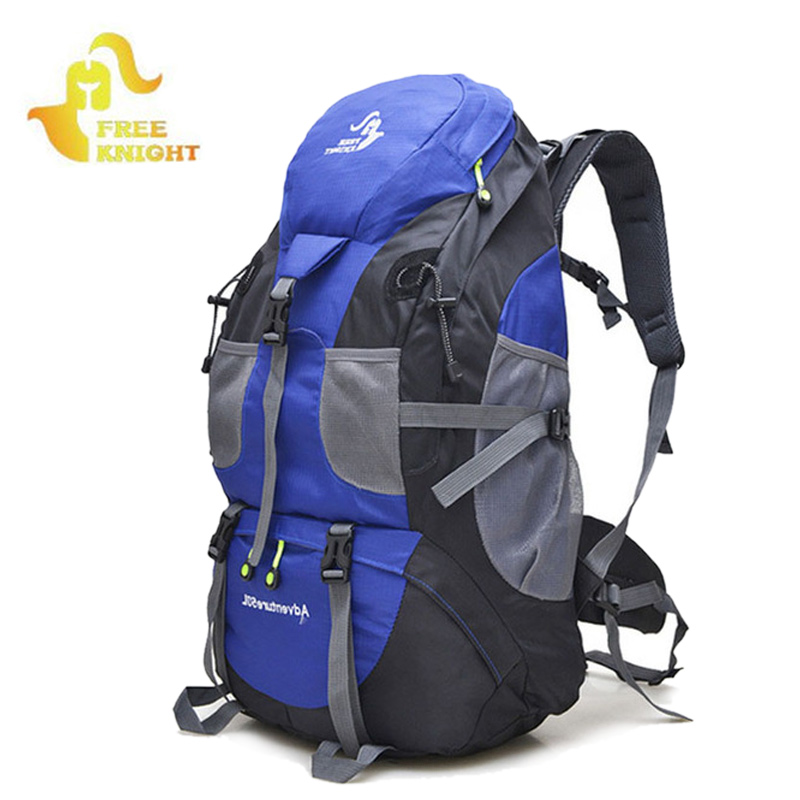 FREE KNIGHT 50L Outdoor Sports Big Load Backpacks Women Men Waterproof Mountain Climbing Hiking Camping Fishing Rucksack XA122WD
