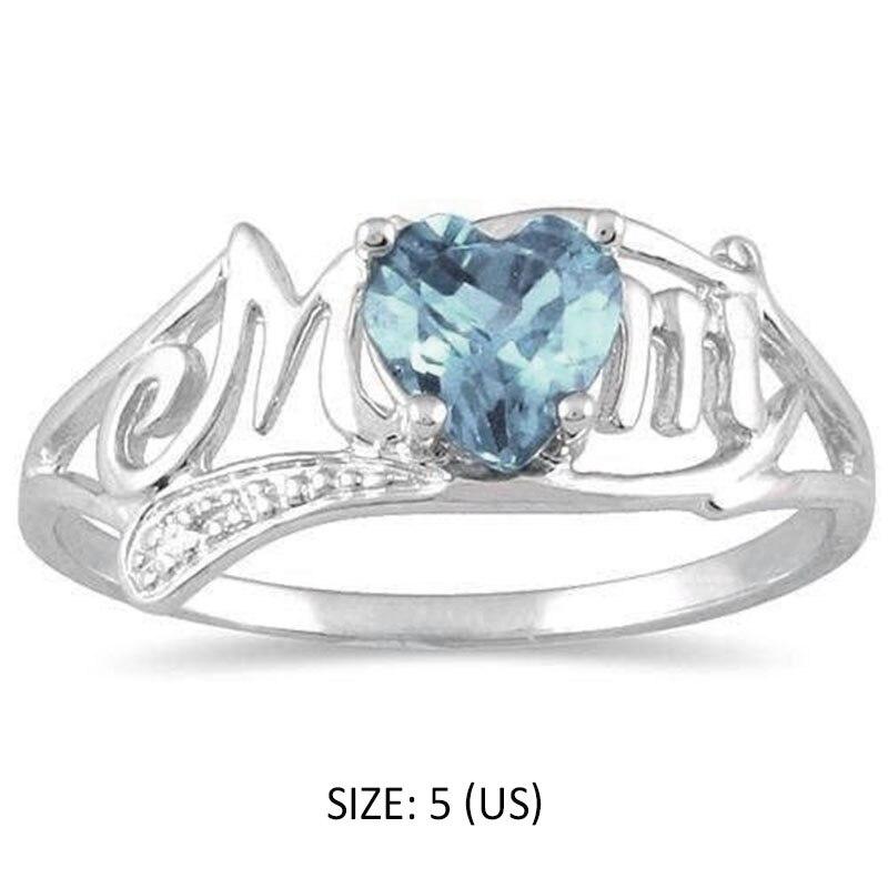 Для женщин кольца в форме сердца опал Обручение обещание палец кольцо Полые письма подарок на день матери M8694
