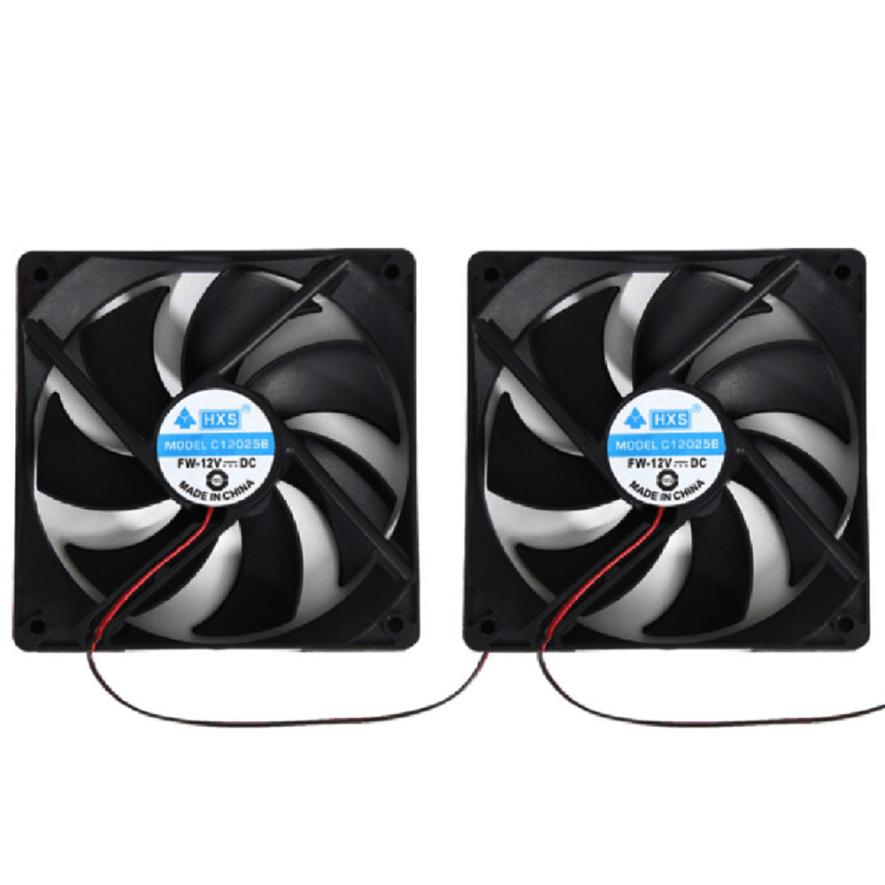 2pcs Hot Selling 120mm 120x25mm 12V 4Pin DC Brushless PC Computer Case Cooling Fan 1800PRM with 24cm Cable Dec21 factory price binmer hot selling 1pcs 120mm 120x25mm 12v 4pin dc brushless pc computer case cooling fan 1800prm drop shipping