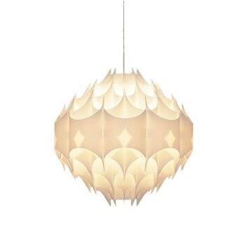 Lustre nordique design créatif foyer salle à manger créatif minimaliste bricolage chambre blanc PVC lumière E27 lampe à LED