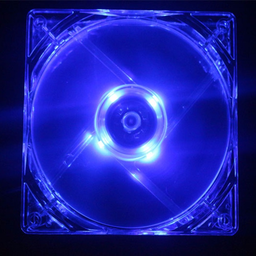 STW Blue light fan 12 cm cooling blue light fan 12CM mute computer power supply chassis CPU fan