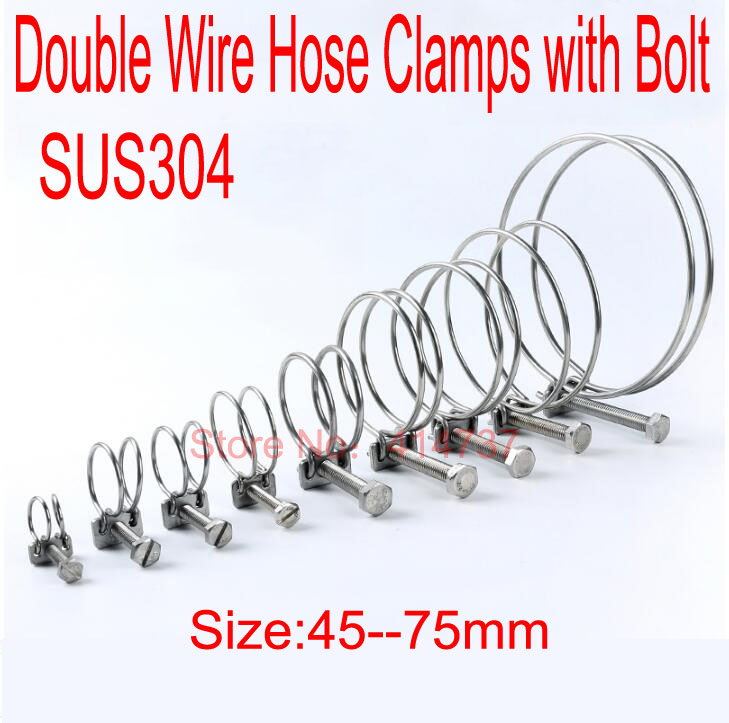 2*3.75/'/' 3-3//4 inch (95mm)Stainless Steel T-Bolt Clamp Turbo Pipe Silicone Hose