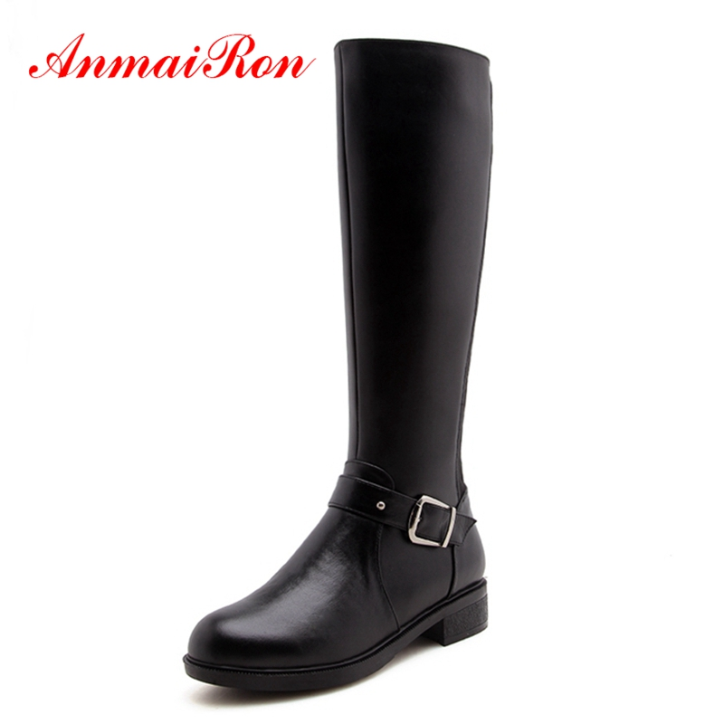 AnmaiRon  Basic  Round Toe  Knee-High  Women Boots  Botines Mujer 2018  Botas Mujer Invierno  Woman Shoes Big Size 34-40 ZYL1505AnmaiRon  Basic  Round Toe  Knee-High  Women Boots  Botines Mujer 2018  Botas Mujer Invierno  Woman Shoes Big Size 34-40 ZYL1505