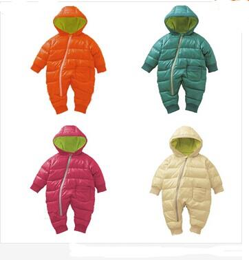 2017 New 0-2 Year Winter Baby Boy Rompers Cotton Padded One Piece Baby Girl Clothes 4 Color Snowsuit Children Kids Coat in the winter of 2016 new products on the market loose big yards thickened cotton linen jacquard women cotton padded clothes
