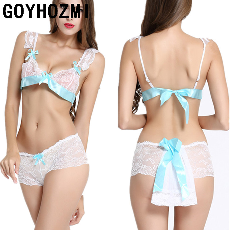 Women Half Slips sexy bra set Transparent lace slips