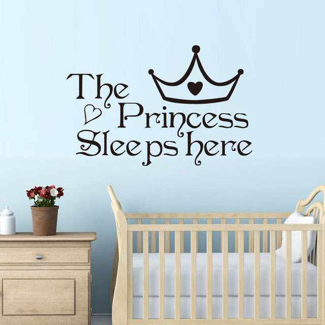 DCTOP The Princess Sleep Here Wall Stickers For Kids Room Wall Decals Home Decor  Wall Art Part 60