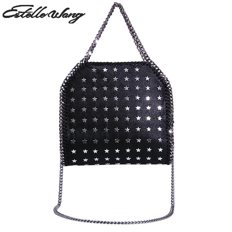 fbf6b285438 Detail Feedback Questions about Estelle Wang Fold Over Import Pvc Leather  Totes Handbags Cotton Three Chains Crossbody Bags Rose Woman Hand Bag With  Metal ...