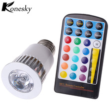 rgb led e27 lamp bulb 5w 16 colors light bulb high power flashlight spotlight 4 way dimmable with memory