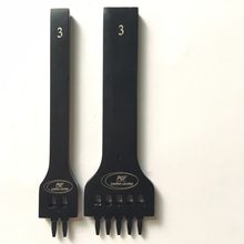 Round Hole Row Punching Black Porous Row Round Chopping Suture Punching Spacing Round Punching DIY Leather Carving Tool