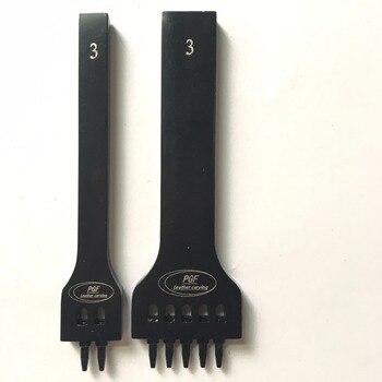 Punzonadora de agujeros redondos, punzonadora de filas negras porosas, punzonado redondo, punzonado redondo, herramienta de tallado de cuero DIY