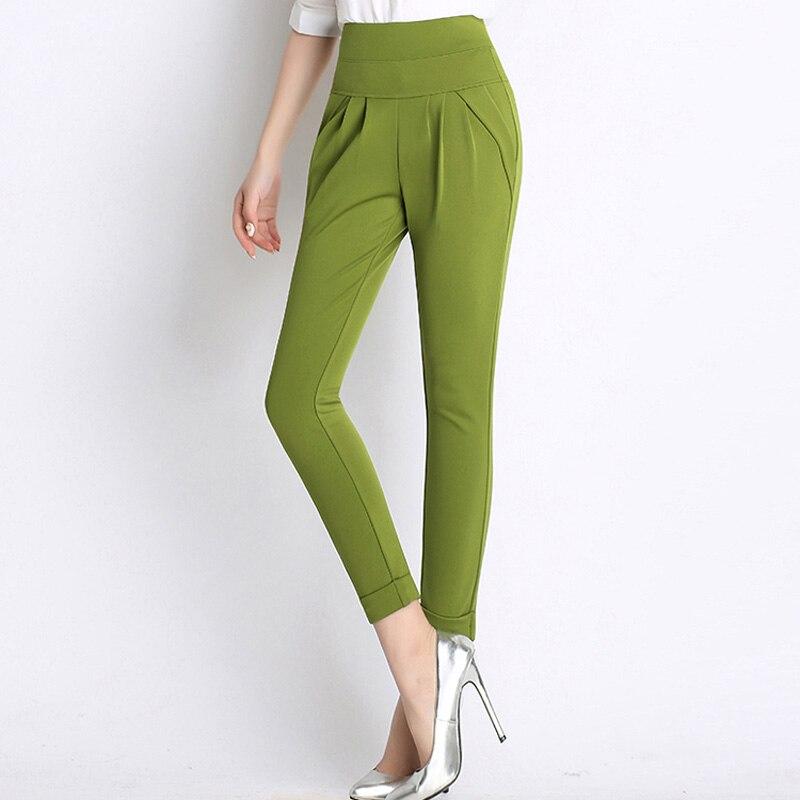 BGTEEVER Casual Women   Pants   Elastic Waist Female Pencil   Pant   Plus Size Harem   Pant   Trousers Streetwear   Capris   2019 Spring Summer