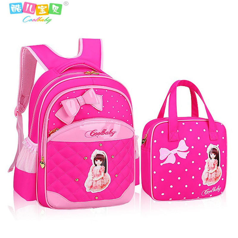 Hot Girl School Bags PU Leather Bag Korean Children School Bowknot  Backpacks 1 6 Grade Girl Backpack Free Shipping Cool Baby-in Backpacks from  Luggage ... 01f19b7d2133a