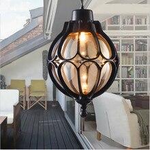 Винтажный водонепроницаемый наружный роскошный декоративный внутренний сад, балкон, европейский тип, потолочный светильник, подвесной светильник, кафе бар, лофт