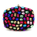 New Design Evening Bag Green Stone Crystal Luxury Day Clutch Bag Diamond Ladies Handbags Beaded Party Purse Bride Wedding Bag