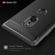 Soft TPU Case For Sony Xperia XZ3 Cases Brushed Carbon Fiber Silicone Phone Case For Sony XZ3 Protective Bag Xperia Z3 Cover protective tpu back case water resistant bag for sony xperia acro s lt26w translucent blue