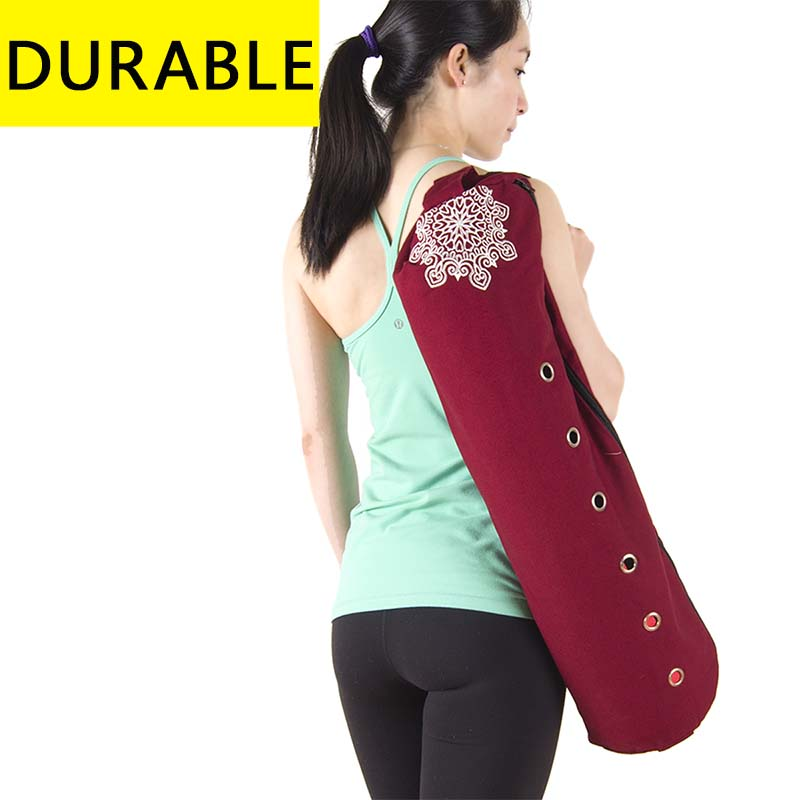 durable canvas cotton yoga mat bag with large zipper opening easy loading mat free shipping  yoga mat zipper bag durable canvas cotton font b yoga b font font b mat b font font b bag