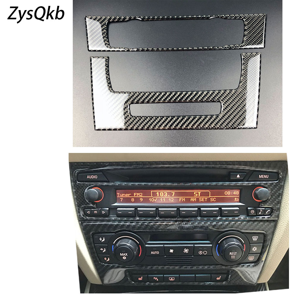 for BMW e90 Carbon Fiber Strip Air Conditioning CD Panel Decorative Cover Trim Auto Interior Accessories Car Styling 3D Sticker