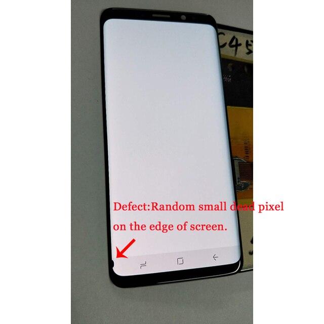 سوبر AMOLED لسامسونج غالاكسي S9 G960 G960F S9 plus G965 G965F شاشة الكريستال السائل + محول الأرقام بشاشة تعمل بلمس مع صغيرة بقعة على حافة